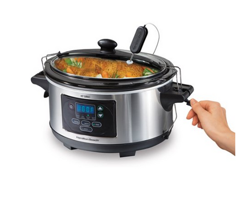 6-Quart Programmable Automatic Slow Cooker Stainless Steel + FREE GIFT