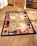 Kitchen Jute Accent Rug Runner Area Carpet Decor Collection