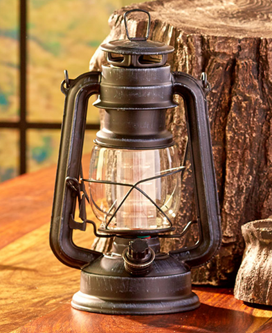 Battery Operated Rustic Metal Home Lanterns Decorative Lamp With Dimming Feature