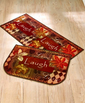 2-Pc. Kitchen Live Laugh Love Fall Home Door Mat Rug Carpet Set - HomeCricket