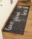 "55"" Farmhouse Kitchen Cushion Floor Runner ""Love Grows Here"""