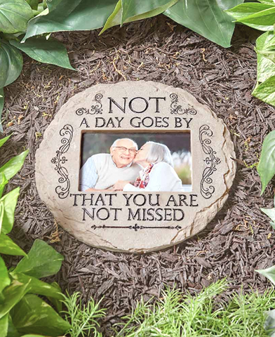 Garden Memorial Tribute Photo Stone Not a Day Goes By