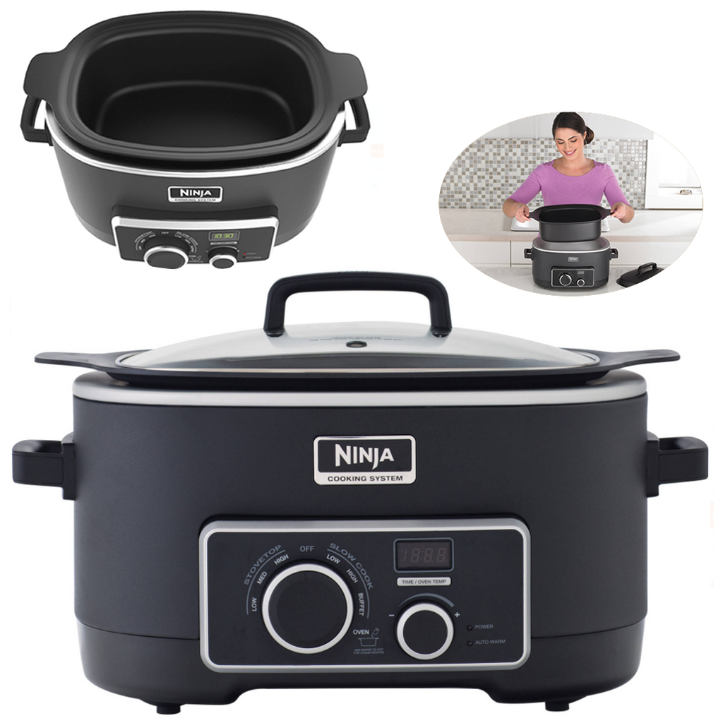 1-pot Meal Making Ninja 3-in-1 Slow Cooker, MC750 Black