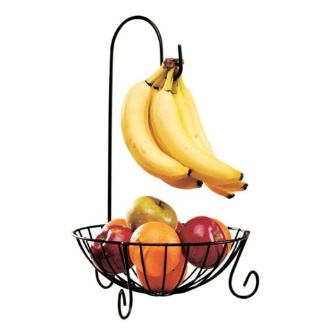 Practical Tableware Metal Fruit Basket Detachable Banana Hanger Storage Tools