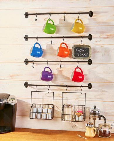 Kitchen Coffee Mug Wall Rack Hanger Display