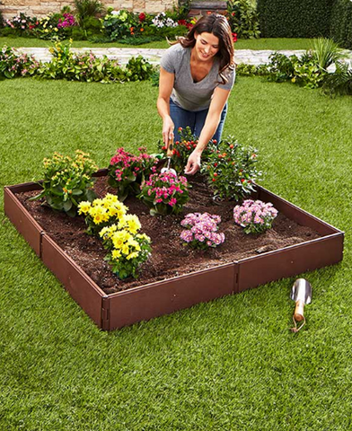 Adjustable Gardening Panels Raised Garden Bed Set