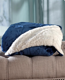 "Ultra-Plush Elegant Ultimate Sherpa Throw Blanket 50"" x 60"""