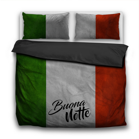 Italian Flag Buona Notte 3 Pcs Bedding Sets Duvet Cover & Pillowcases