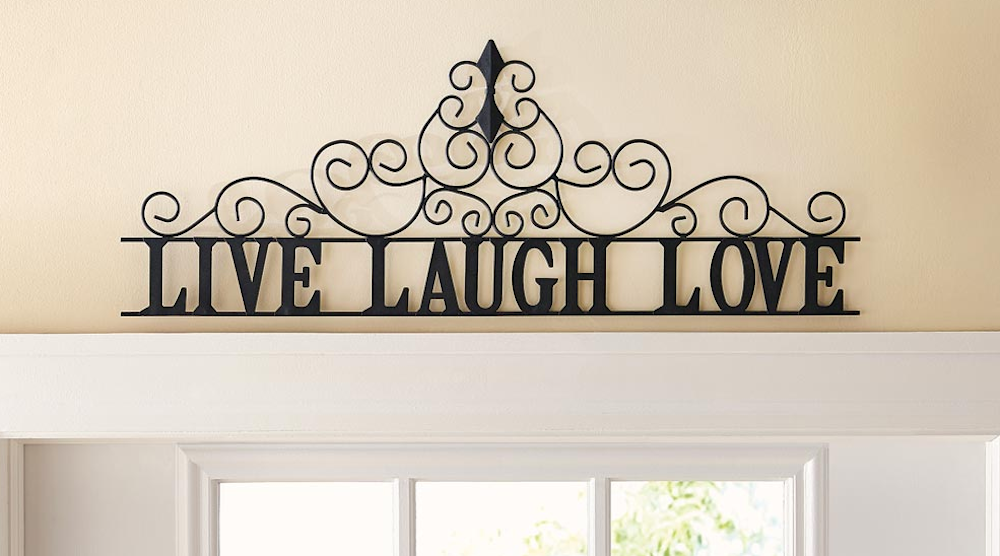 Scrolling Live Laugh Love Metal Wall Art Decor - Home Decorating Decor Decorations Ideas