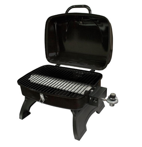 Portable Camping Grill W/ Folding Legs & Locking Hood