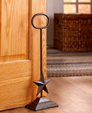 Rustic Farmhouse Decor Star Cast Iron Country Door Stopper