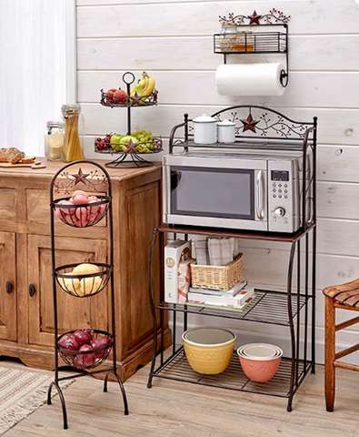 Decorative Stars & Berries Country Style Kitchen Decor Organizers
