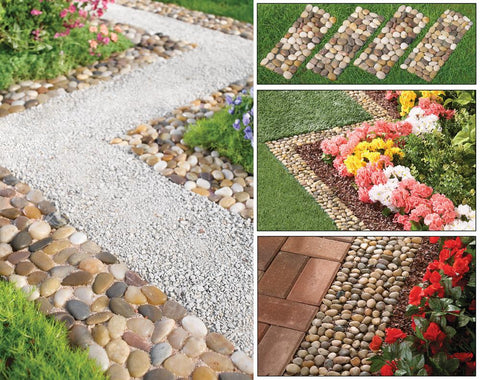 Landscaping Stone Garden Border Path Mats - Set of 4