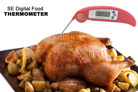 SE Instant Read Mini Cooking & Grilling BBQ LCD Digital Meat Thermometer