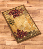 Vineyard Themed Decorative Kitchen Jute Accent Rug Runner Area Carpet Decor