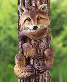 Country Lodge Yard Animal Hanging Fox Hugger Whimsical Tree Decor