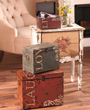 Vintage Storage Trunks 3 Piece Set Live Love Laugh Rustic Trunk