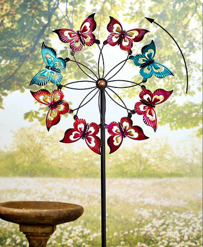 Butterfly Oversized Lawn WindMill Spinner Garden Decoration