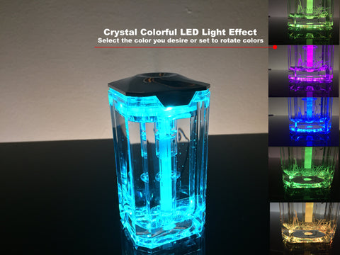 Aromather Crystal LED Mini Humidifier Purifier Aroma Diffuser