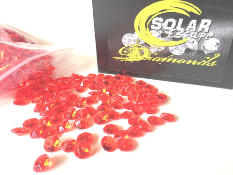 800 Diamond Table Scatter Confetti 4 Carat/ 10mm Red - Diamond Theme Party Supplies - Wedding Bridal Shower Party Decorations by SolarEscape