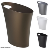 Slim, Stylish Skinny Polypropylene Waste Can Bathrooms and more