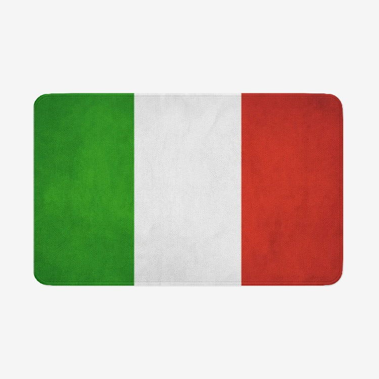 Italian Flag Microfiber Chevron Soft Kitchen Mat Bath Rug Doormat