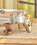 Farmhouse Style Country Farm Kitchen Sheep Salt and Pepper Shakers Set