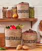 Farmhouse Kitchen 3-Pc. Vegetable Storage & Organization Bags
