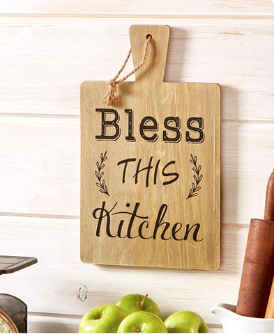 Country Farmhouse Cutting Board or Mason Jar Kitchen Wall Hanging Decor