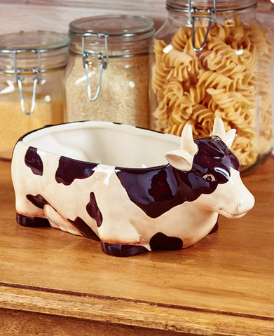 Country Farmhouse Kitchen Accents Decorating Cow Serving Bowl