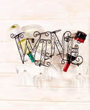 Wall Mounted Metal Winerack Kitchen Decorative Bottle & Glass Rack