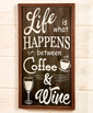 coffee wall art for kitchen