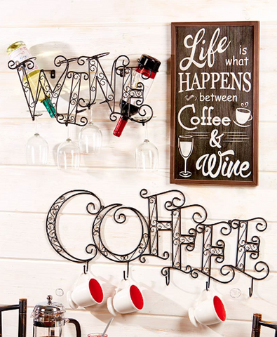 Wall Mounted Coffee Wall Art Decor Kitchen Decorative Accent
