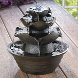 Lotus Bloom Tabletop Fountain
