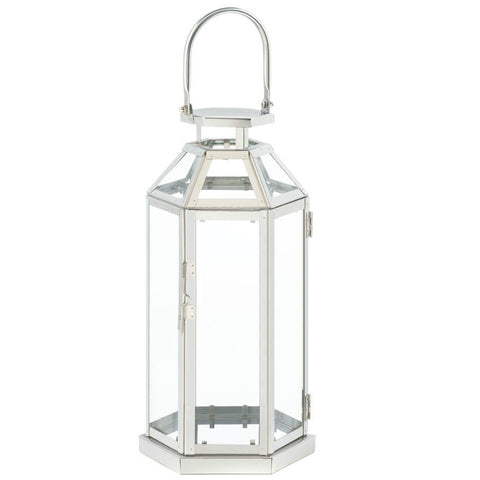 Steel Symmetry Candle Lantern