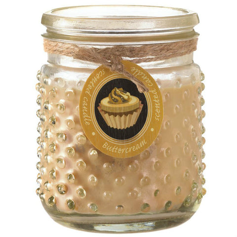Butter Cream Scented Hobnail Jar Candle