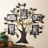 Family Tree Wall Art with Five Frames