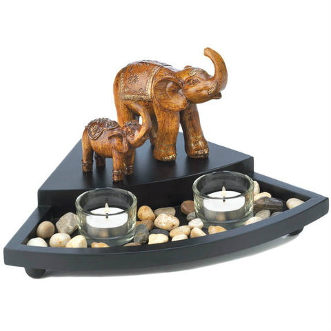 Wedge-Shaped Elephant Candle Set