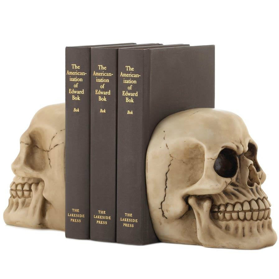 Polyresin Skull Bookends