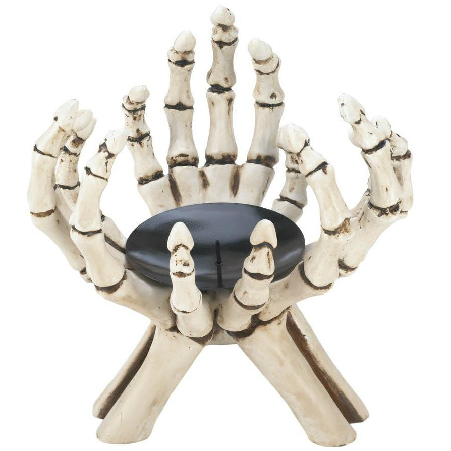 Skeleton Hands Candle Stand