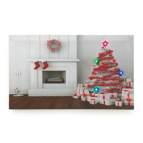 Holiday Fireplace Led Wall Art