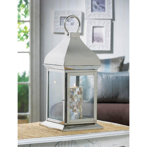 Stainless Steel Dome Candle Lantern - 16 inches
