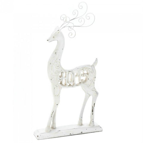Distressed White Reindeer - Hope
