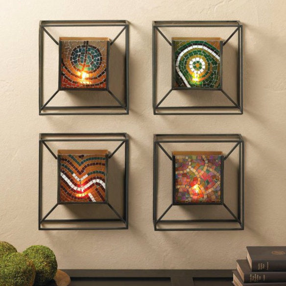 Mosaic Glass Wall Sconce - Confetti
