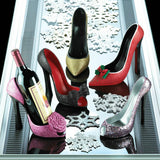 Sparkly High Heel Shoe Wine Bottle Holder