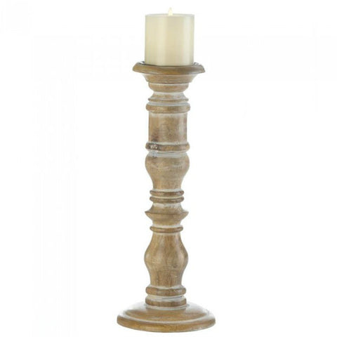 Mango Wood Candle Holder - Homestead - 15 inches
