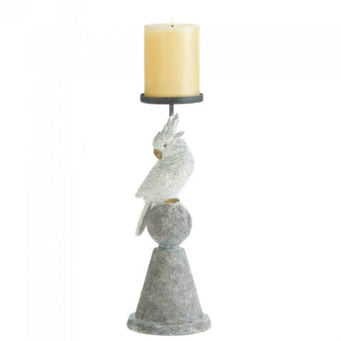White Cockatoo Candleholder