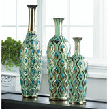 Peacock Long Neck Jewel Vase
