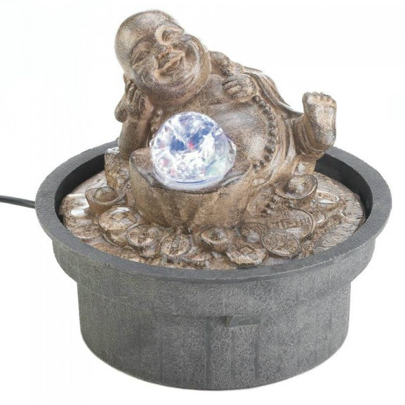 Happy Buddha Tabletop Water Fountain