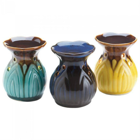 Flower Top Oil Warmer Trio